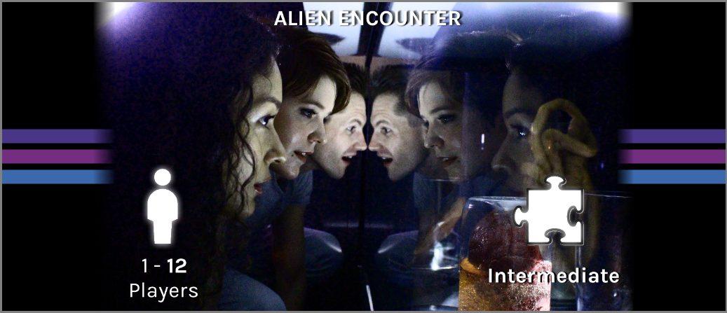 alien encounter escape room banner