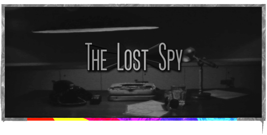 lost spy logo in front of a CIA office backdrop