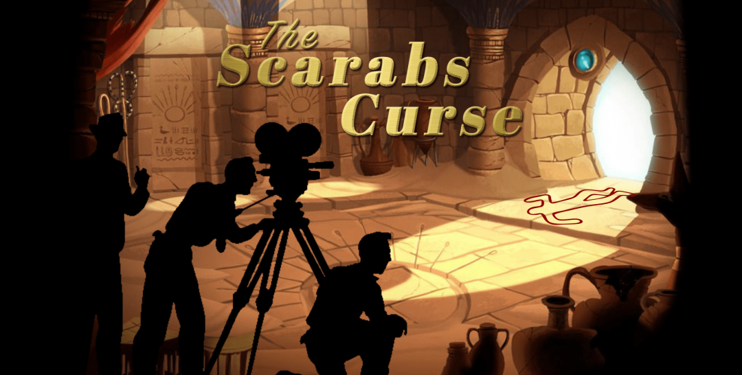the scarab's curse online escape game poster